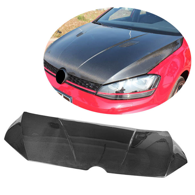 For Volkswagen VW Golf 7 VII MK7 Standard GTI R R-line Hatchback 14-16 Carbon Fiber Engine Bonnet Hood Cover