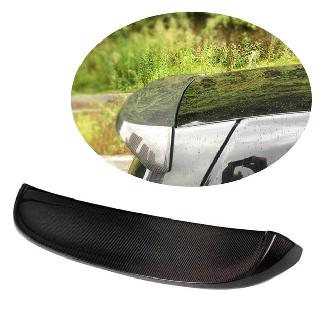 For Mercedes Benz Smart fortwo 08-13 Carbon Fiber Rear Roof Spoiler Window Wing Lip