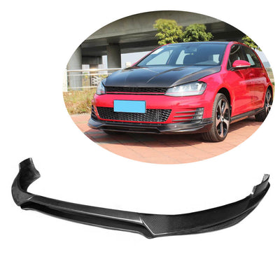 For Volkswagen VW Golf 7 MK7 GTI Hatchback 14-16 Carbon Fiber Front Bumper Lip Chin Spoiler Body Kit