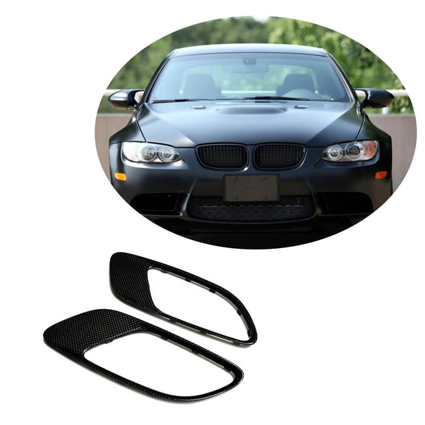 For BMW 3 Series E90 E92 E93 M3 2-Door 4-Door 08-13 Carbon Fiber Engine Cover Air Vent