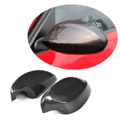 For BMW 3 Series E90 Pre-LCI Sedan 05-08 Carbon Fiber Side Rearview Mirror Cover Caps LHD Pair