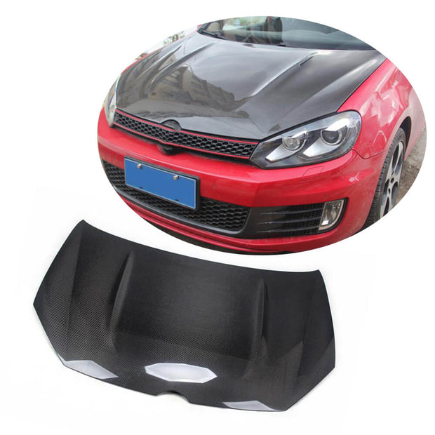 For Volkswagen VW Golf 6 MK6 GTI R/R20 Hatchback 10-13 Carbon Fiber Engine Bonnet Hood Cover