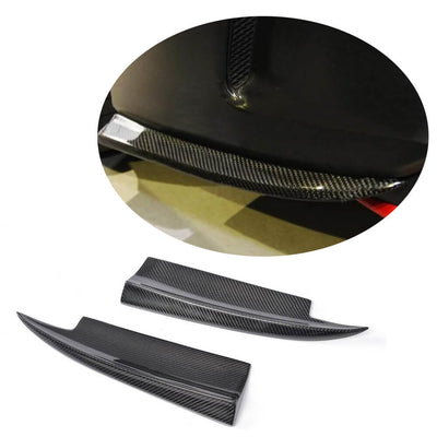 For Mercedes Benz W117 C117 Sport CLA45 AMG Sedan 13-19 Carbon Fiber Rear Bumper Splitter Cupwing Winglets Vent Flaps
