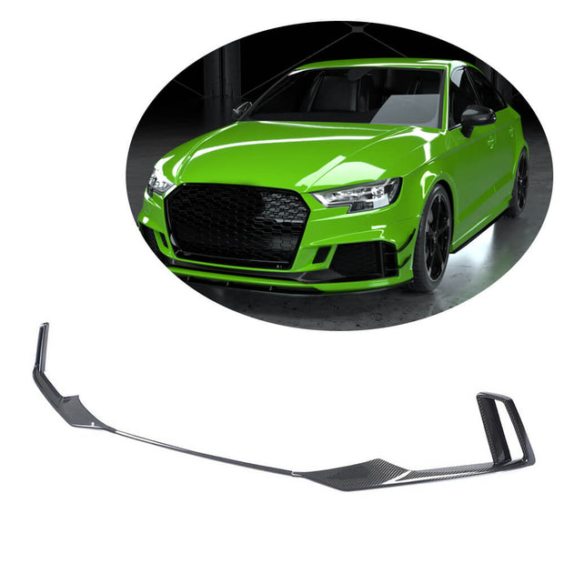 For Audi RS3 Sedan 17-19 Carbon Fiber Front Bumper Air Vent Trim