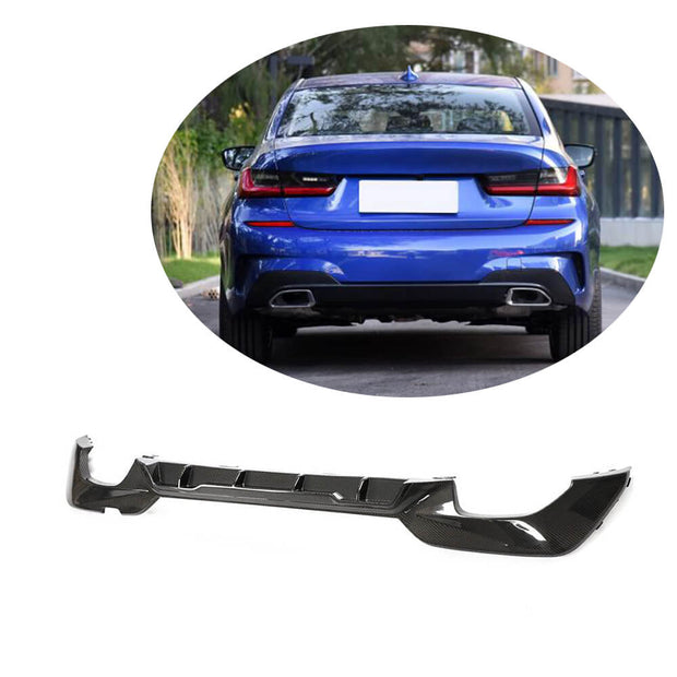 For BMW 3 Series G20 M Sport Sedan 19UP Carbon Fiber Rear Bumper Diffuser Body Kit