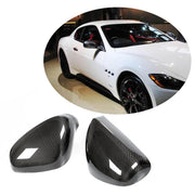 For Maserati Gran Turismo GT GranCabrio 2-Door 08-19 Carbon Fiber Side Rearview Mirror Cover Caps Pair