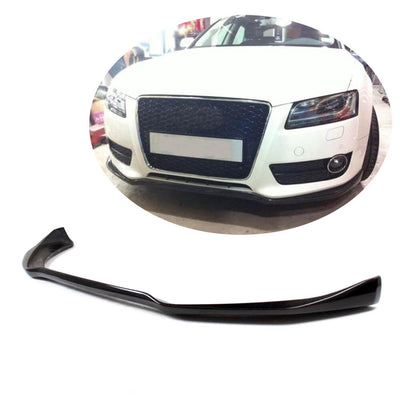 For Audi A5 B8 Base 2-Door 4-Door Pre-facelift 08-11 Carbon Fiber Front Bumper Lip Chin Spoiler Body Kit
