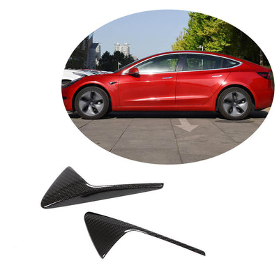 For Tesla Model S/Model 3/Model X 12-20 Carbon Fiber Side Camera Marker Fender Cover