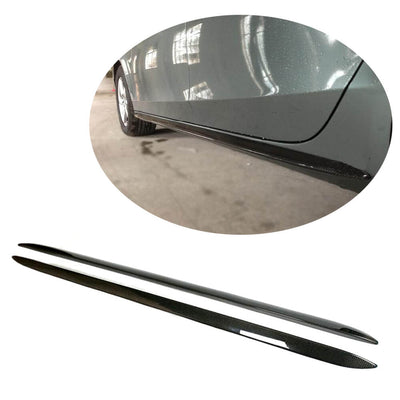 For Audi A5 B8 Base Sedan Pre-facelift 08-11 Carbon Fiber Side Skirts Door Rocker Panels Extension Lip