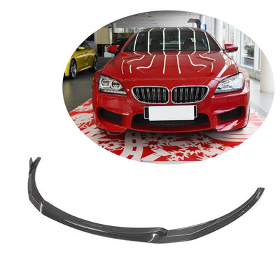 For BMW F06 F12 F13 M6 2-Door 4-Door 13-18 Carbon Fiber Front Bumper Lip Chin Spoiler Body Kit
