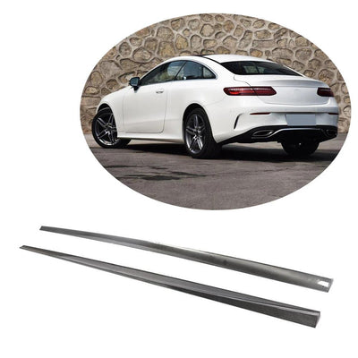 For Mercedes Benz C238 A238 Sport 2-Door 17-19 Carbon Fiber Side Skirts Door Rocker Panels Extension Lip
