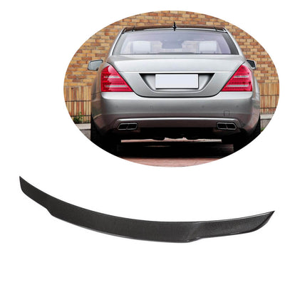 For Mercedes Benz W221 Sedan 08-13 Carbon Fiber Rear Trunk Spoiler Boot Wing Lip