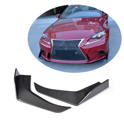 For Lexus IS250 IS350 F Sport Sedan 13-15 Carbon Fiber Front Bumper Splitter Cupwing Winglets Vent Flaps