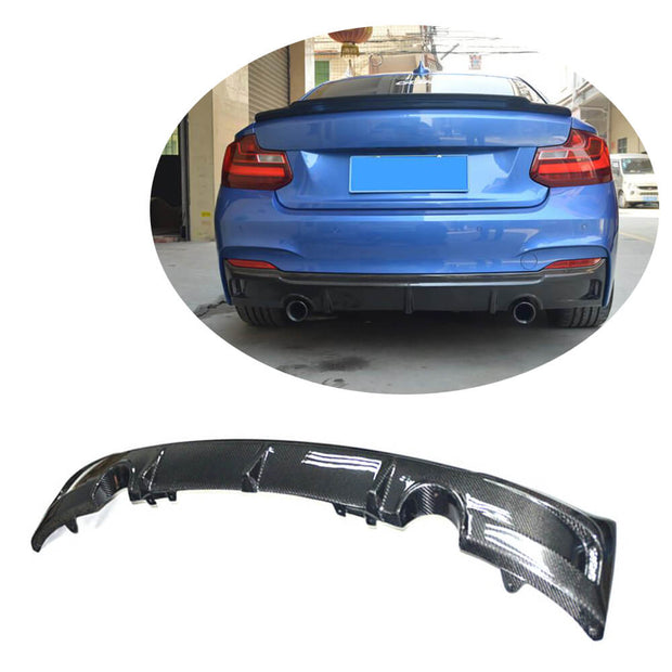 For BMW 2 Series F22 F23 M Sport 2-Door 14-19 Carbon Fiber Rear Bumper Diffuser Body Kit