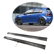 For Volkswagen VW Golf 6 MK6 R/R20 Hatchback 10-13 Carbon Fiber Side Skirts Under Door Rocker Panels Extension Lip