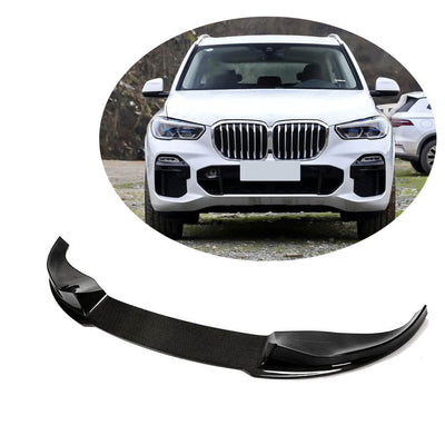 For BMW X5 G05 M Sport SUV 2019UP Carbon Fiber Front Bumper Lip Chin Spoiler Body Kit