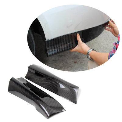 For Audi A4 B8.5 Base Sedan 13-16 Carbon Fiber Rear Bumper Splitter Cupwing Winglets Vent Flaps