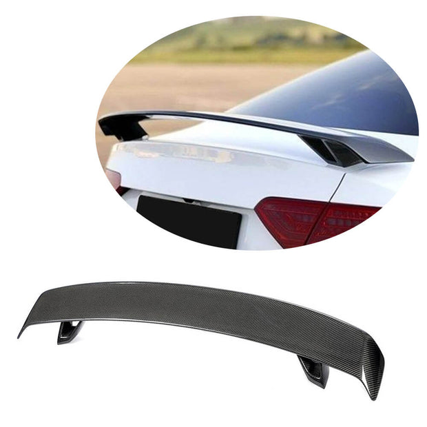 For Audi A5 A6 A7 S7 RS7 TT 08-11 Carbon Fiber Rear Trunk Spoiler Boot Wing Lip