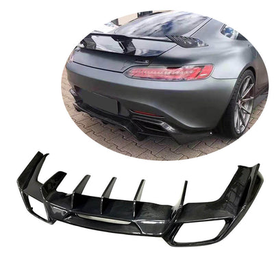 For Mercedes Benz AMG GT/GT S Coupe 15-17 Carbon Fiber Rear Bumper Diffuser Body Kit