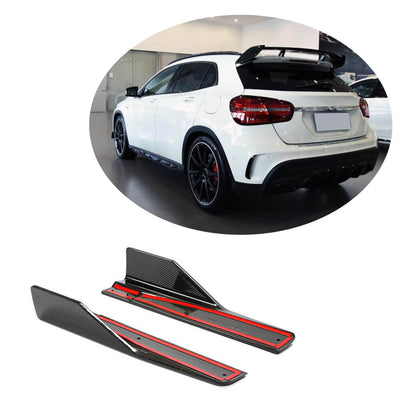 For Mercedes Benz X156 Sport GLA45 AMG Sport Utiltiy 14-20 Carbon Fiber Side Skirts Splitter Cupwing Winglets Flaps