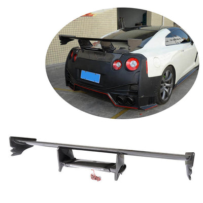 For Nissan GTR R35 Coupe 09-15 Carbon Fiber Rear Trunk Spoiler Boot Wing Lip