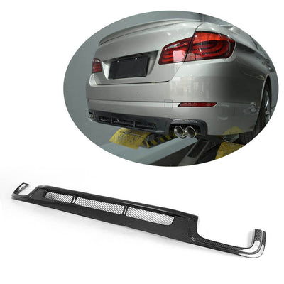 For BMW 5 Series F10 Base Sedan Pre-LCI 10-13 Carbon Fiber Rear Bumper Diffuser Body Kit