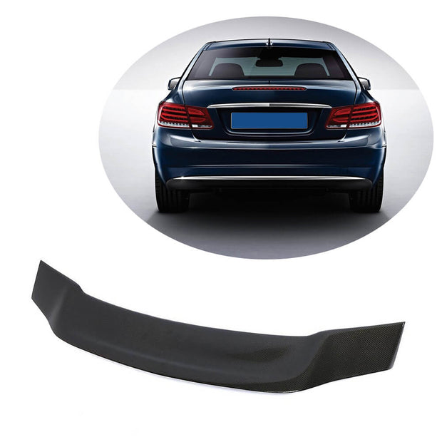 For Mercedes Benz W207 C207 Coupe 09-16 Carbon Fiber Rear Trunk Spoiler Boot Wing Lip