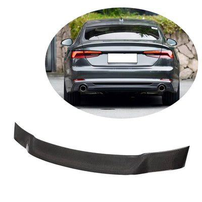For Audi A5 B9 Sline S5 Sportback 17-20 Carbon Fiber Rear Trunk Spoiler Boot Wing Lip