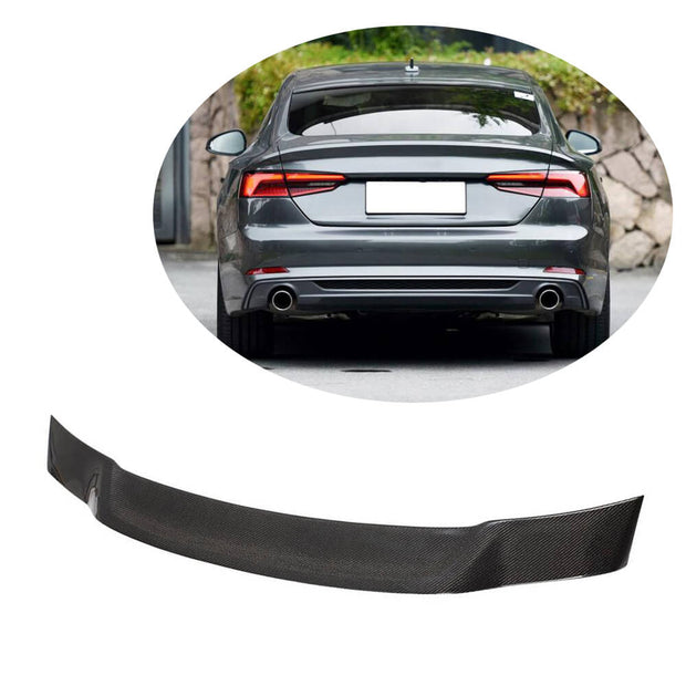 For Audi A5 B9 Base/Sline Sportback 17-20 Carbon Fiber Rear Trunk Spoiler Boot Wing Lip