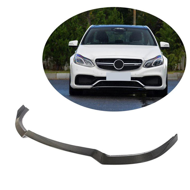 For Mercedes Benz W212 S212 E63 AMG Sedan Wagon 14-16 Carbon Fiber Front Bumper Lip Chin Spoiler Body Kit