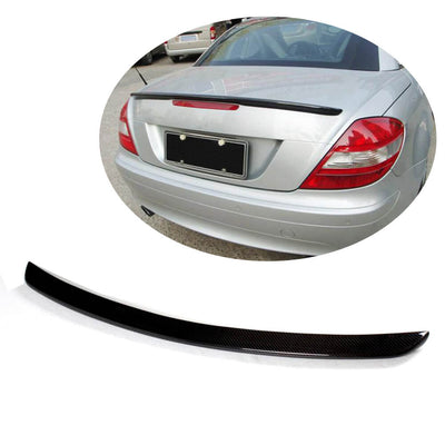 For Mercedes Benz SLK Class R171 Coupe 09-11 Carbon Fiber Rear Trunk Spoiler Boot Wing Lip