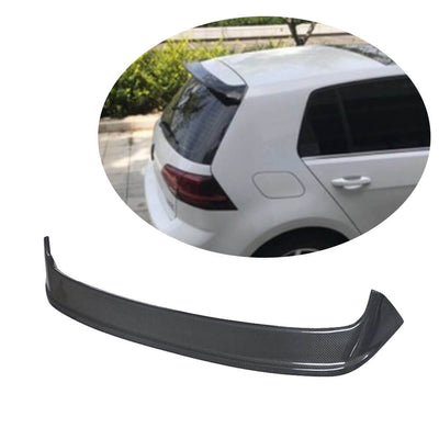 For Volkswagen VW Golf 7 MK7 Base Hatchback 14-16 Carbon Fiber Rear Roof Spoiler Window Wing Lip