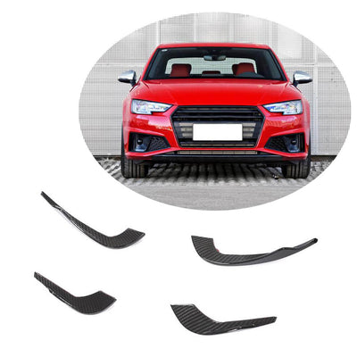 For Audi S4 A4 S Line Sedan 17-20 Carbon Fiber Front Bumper Air Vent Fins Canards Body Kits