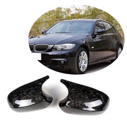 For BMW 3 Series E90 E91 08-11 E92 E93 10-13 Carbon Fiber Side Rearview Mirror Cover Caps Pair