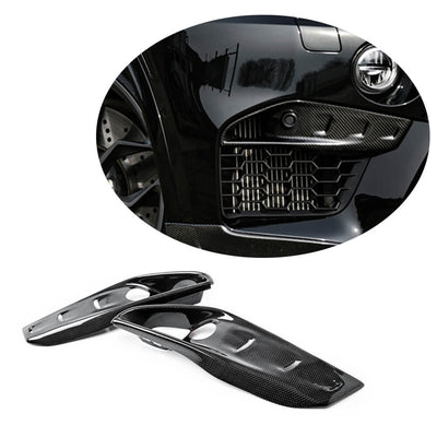 For BMW X5M F85 X6M F86 Sport Utility 15-19 Carbon Fiber Front Bumper Fog Light Air Vent Cover Trims