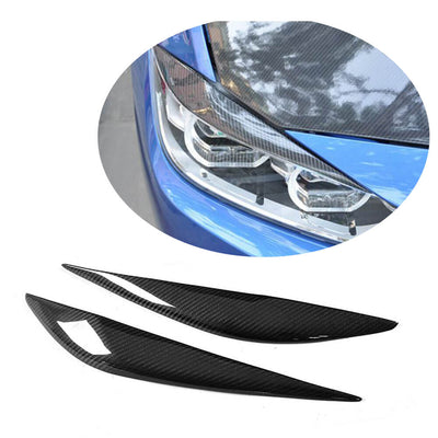 For BMW 3 Series F30 Sedan 12-18 Carbon Fiber Headlight Eyebrows Lamp Eyelids