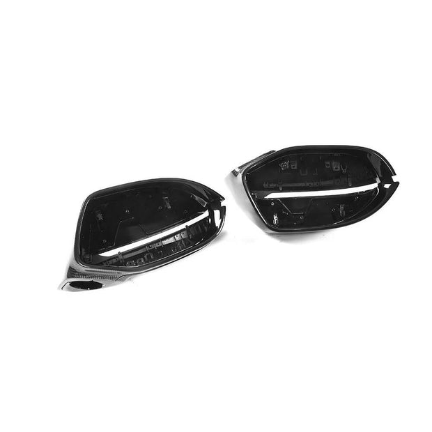 For Audi A7/A7 Sline/S7/RS7 Hatchback 11-18 Carbon Fiber Side Rearview Mirror Cover Caps LHD Pair