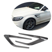 For Mercedes Benz W205 C63 AMG Sedan 15-19 Carbon fiber Front Fender Vents Trims