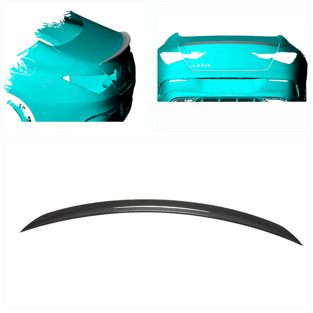 For Mercedes Benz W118 C118 Sedan 2020UP Carbon Fiber Rear Trunk Spoiler Boot Wing Lip