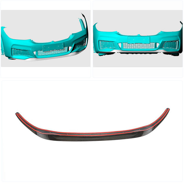 For BMW 6 Series G32 M-Sport GT 17-20 Carbon Fiber Front Bumper Lip Chin Spoiler Body Kit