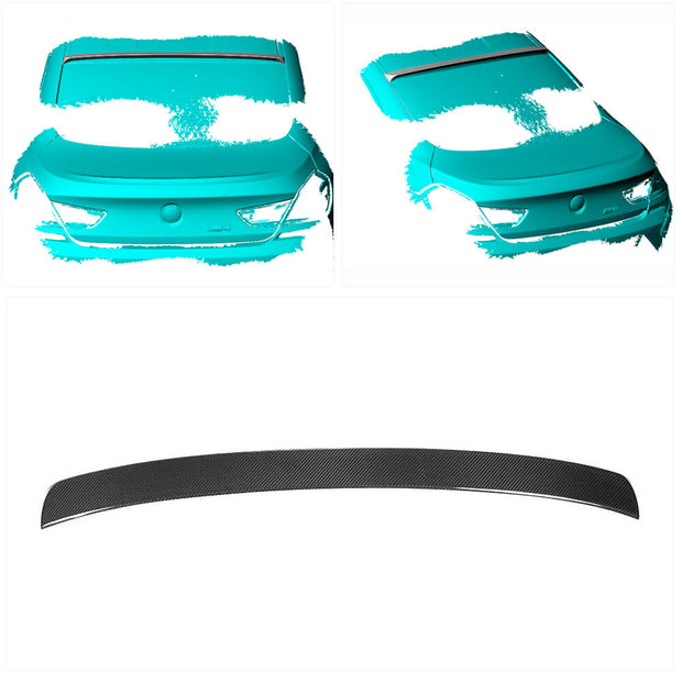 For BMW 6 Series F06 F13 Base/M Sport M6 Coupe 13-18 Carbon Fiber Rear Roof Spoiler Window Wing Lip
