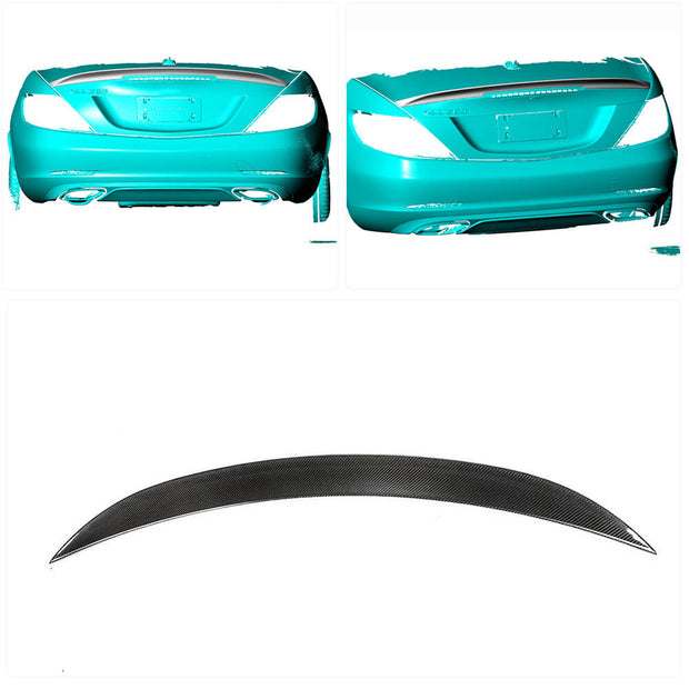 For Mercedes Benz SLC Class R172 Convertible 16-19 Carbon Fiber Rear Trunk Spoiler Boot Wing Lip