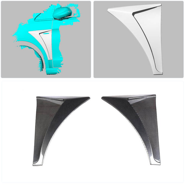 For Mercedes Benz W447 Vito 16-19 Carbon Fiber Side Vent Air Fender Vent Canards Body Kits