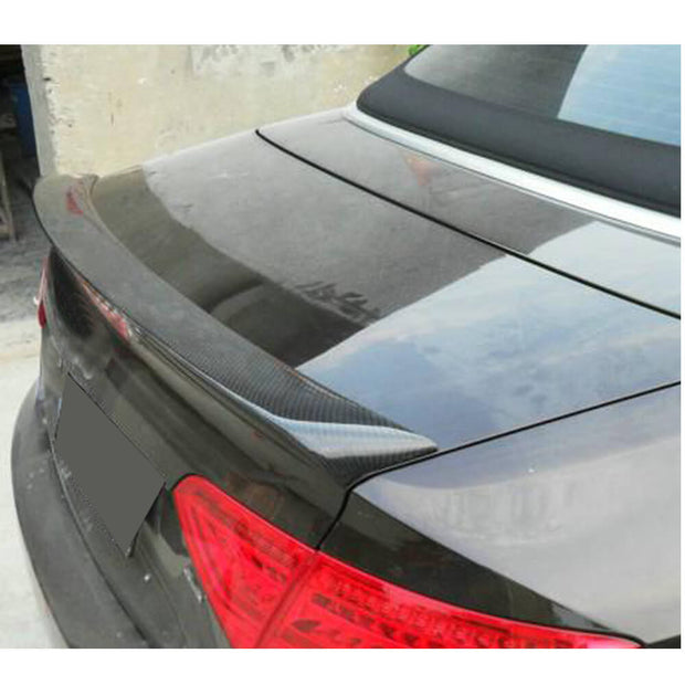 For Audi A5 / A5 Sline / S5 / RS5 Convertible 08-16 Carbon Fiber Rear Trunk Spoiler Boot Wing Lip
