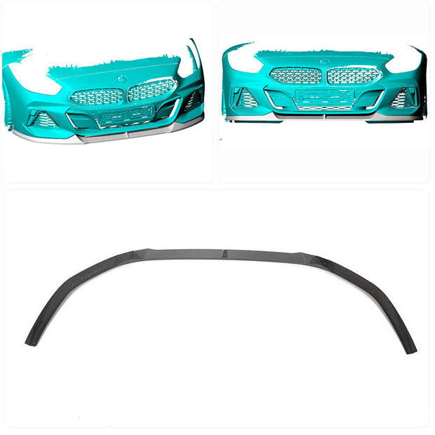 For BMW Z4 G29 M Sport Convertible 19UP Carbon Fiber Front Bumper Lip Chin Spoiler Body Kit