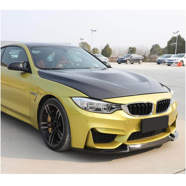 For BMW F80 M3 F82 F83 M4 14-19 Carbon Fiber Front Bumper Lip Chin Spoiler Splitter
