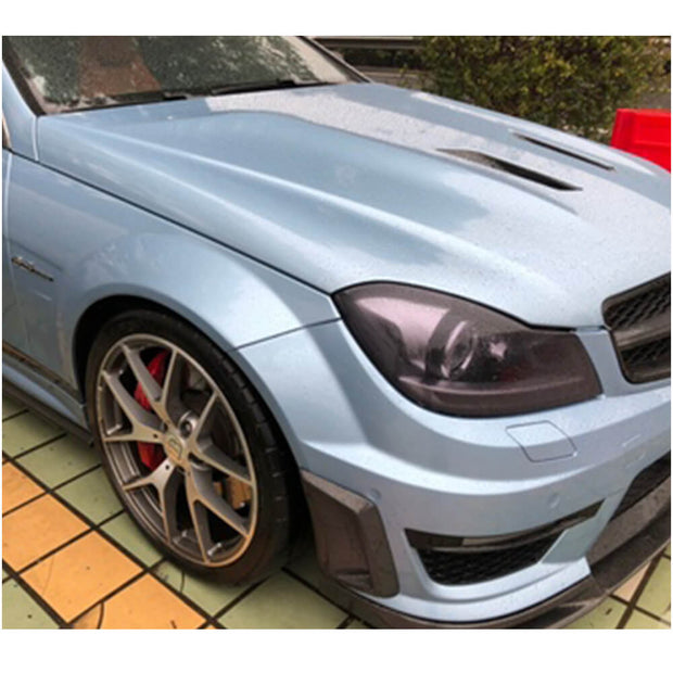 For Mercedes Benz W204 C204 C63 AMG Sedan Coupe 12-14 Carbon Fiber Front Bumper Side Vents Cover