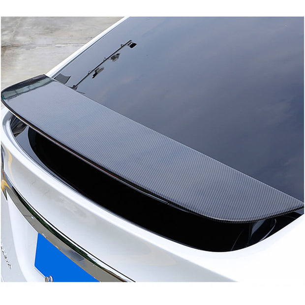 For Tesla Model X Sport Utility 16-19 Carbon Fiber Rear Trunk Spoiler Boot Wing Lip