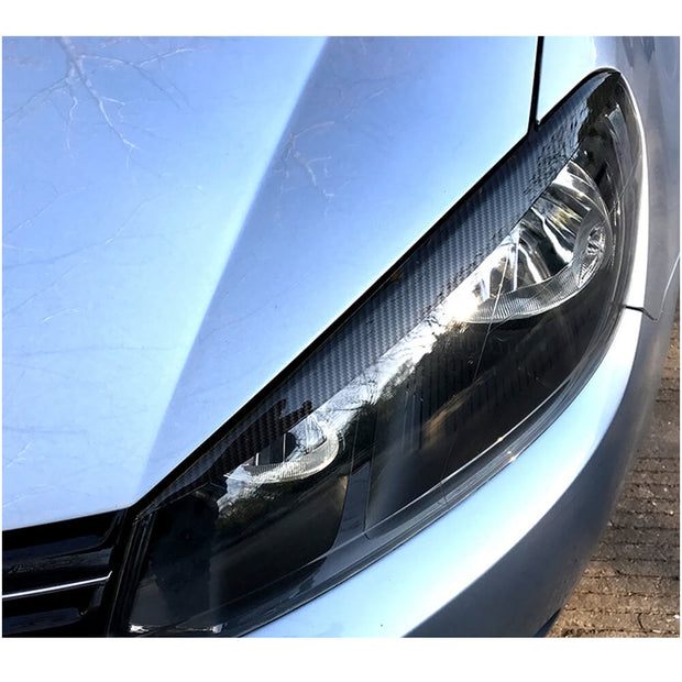 For Volkswagen VW Golf 6 MK6 GTI R/R20 Hatchback 10-13 Carbon Fiber Headlight Eyelids Lamp Eyebrows