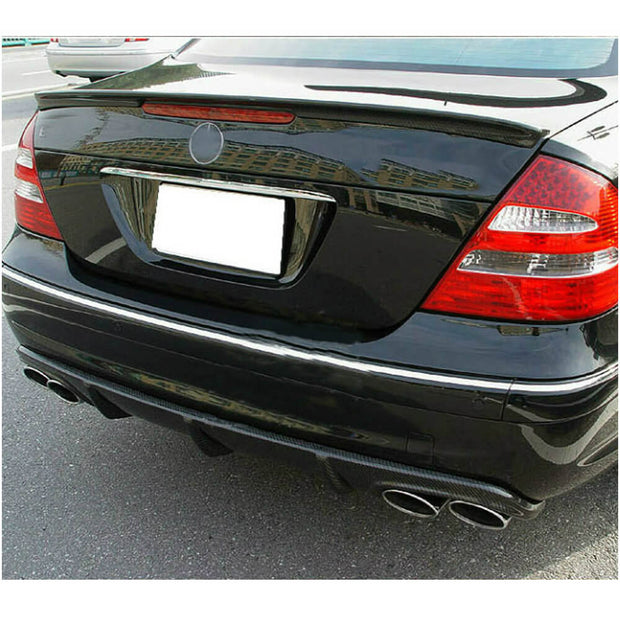 For Mercedes Benz W211 E55 AMG Sedan 03-06 Carbon Fiber Rear Bumper Diffuser Lip